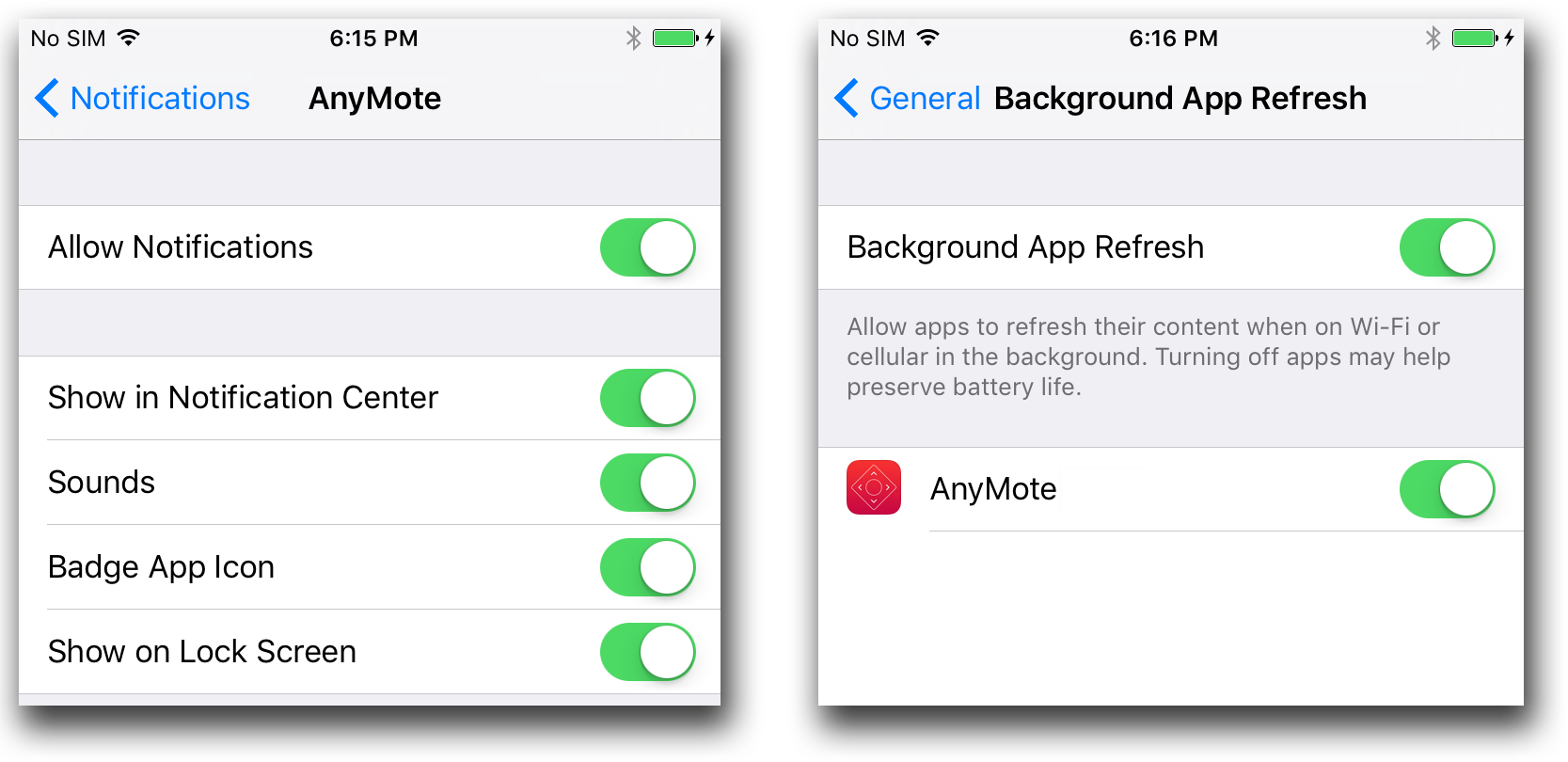 AnyMote Support – Frequently Asked Questions - iOS - Using the